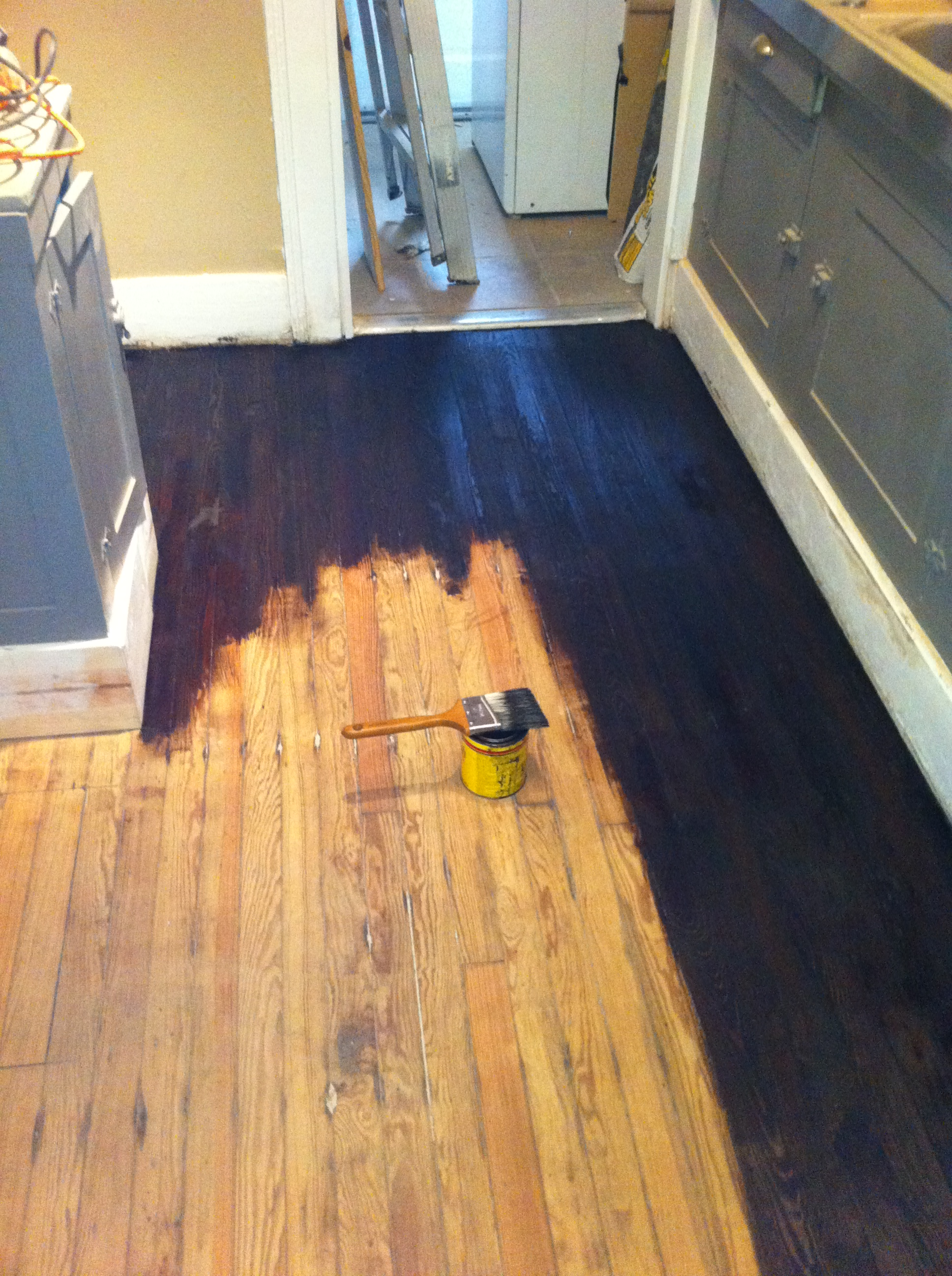 How to refinish hardwood floors part 2 stain and seal for Best paint for wooden floors